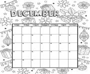 Printable december calendar 2019 christmas coloring pages