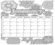 Printable january calendar 2019 coloring pages