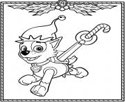 Printable Paw Patrol Holiday Christmas Rocky coloring pages