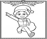 Printable Paw Patrol Holiday Christmas Ryder coloring pages