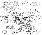 Printable Sea Patrol Skye Paw coloring pages