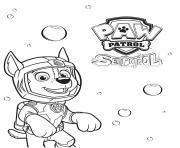 Printable Sea Patrol with Chase Paw coloring pages