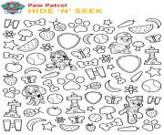 Printable hide and seek paw patrol coloring pages