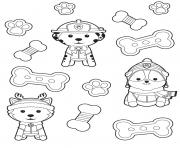 Printable paw patrol treats coloring pages