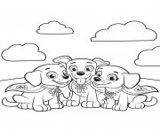 Printable canine companions for independence paw patrol team coloring pages