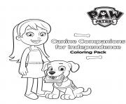 Printable canine companions for independence coloring pages