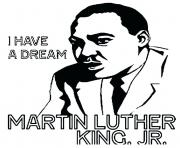 Printable martin luther king day I have a dream coloring pages