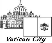 vatican flag st peters basilica