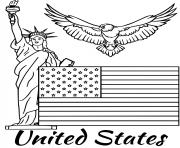 Printable united states flag coloring pages