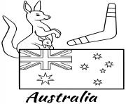 Printable australia flag boomerang coloring pages