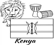 kenya flag lion