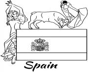 spain flag corrida coloring pages