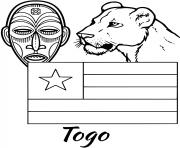 togo flag tribal mask