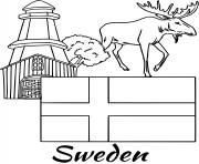 sweden flag moose