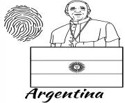argentina flag fingerprint