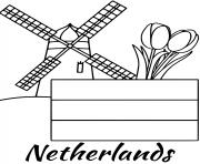 netherlands flag windmill