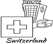 Printable switzerland flag bank coloring pages
