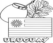 uruguay flag yerba mate coloring pages