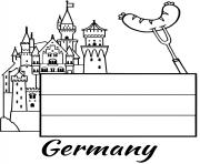 Printable germany flag castle coloring pages