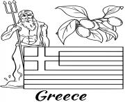 greece flag zeus