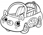 Printable Cutie Cars Shopkins coloring pages