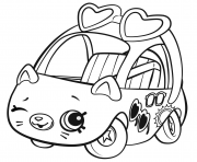 Printable Shopkins Cutie Cars Sunny Sedan coloring pages