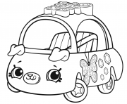Printable Cutie Cars Season 1 coloring pages