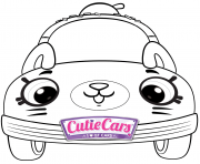 Printable Cutie Cars Shopkins Kids coloring pages