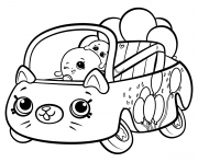 Printable Shopkins Cutie Cars Bumper Balloons coloring pages