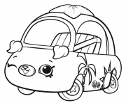 Printable Shopkins Cutie Cars Wink coloring pages