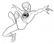 Spider Man Coloring Miles Morales coloring pages