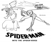 Spider Man Into the Spider Verse Villains coloring pages