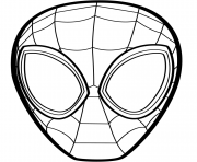 Spider Man Mask coloring pages