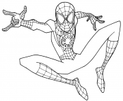 Printable Young Spider Man coloring pages