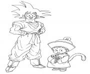 Printable anime manga dragon ball z coloring pages