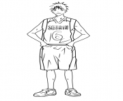 Printable Shinji Koganei from Kuroko no Basuke coloring pages