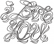 i love you coloring page