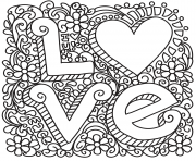 love zentangle st valentines