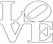 robert indiana love text