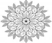 mandala flowers for adult