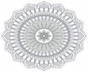 Printable mandala zen antistress hard coloring pages