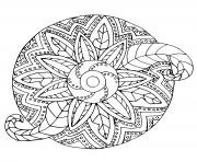 Printable mandala adult flowers vegetal coloring pages