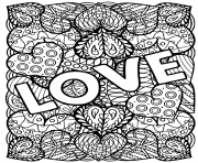 Printable adult love hearts valentines coloring pages
