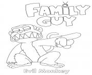 Printable Family Guy Evil Monkey coloring pages