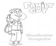 Printable Family Guy Ghostbusters Quagmire coloring pages
