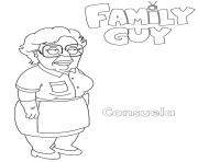 Printable Family Guy Consuela coloring pages