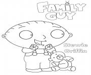 Printable Family Guy Stewie Cartoon coloring pages