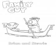 Printable Family Guy Brian and Stewie coloring pages
