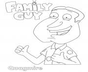 Printable Family Guy Quagmire coloring pages
