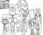 Printable Teen Titans Go Halloween coloring pages